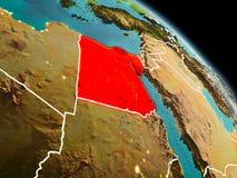 埃及在从轨道的早晨 库存例证