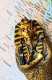 埃及地图法老王 库存图片