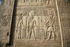 埃及墙壁替补 免版税图库摄影