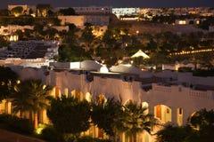 埃及夜间旅馆 免版税库存图片