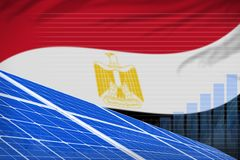 埃及太阳能力量数字图表概念-现代自然能工业例证 3d例证 皇族释放例证