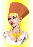 埃及女沙皇的传染媒介例证。 库存图片