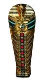 埃及妈咪石棺 免版税库存照片