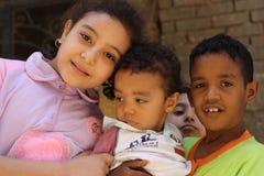 埃及孩子画象chairty事件的在吉萨棉 免版税图库摄影