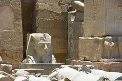 埃及寺庙卢克索,一座建筑纪念碑,一个古老大厦古迹  免版税库存图片