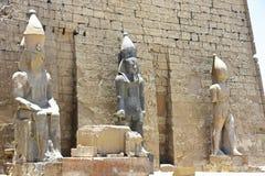 埃及寺庙卢克索,一座建筑纪念碑,一个古老大厦古迹  库存照片