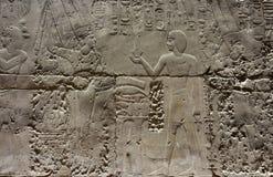 埃及寺庙卢克索,一座建筑纪念碑,一个古老大厦古迹  库存图片