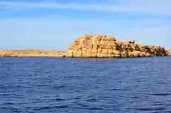 埃及山 红海 免版税库存图片