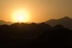 埃及山 库存图片