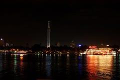 埃及开罗夜视图 库存图片