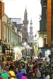 埃及开罗街道视图在非洲 免版税库存图片