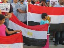 埃及抗议密西沙加N 免版税图库摄影