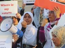 埃及抗议密西沙加R 免版税库存照片