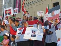 埃及抗议密西沙加T 库存照片