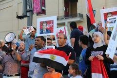 埃及抗议米西索加C 免版税图库摄影