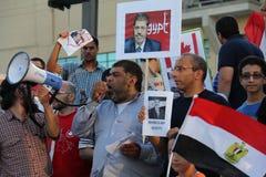 埃及抗议米西索加D 免版税库存照片