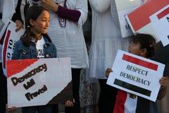 埃及抗议米西索加E 库存照片