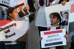 埃及抗议米西索加F 库存图片