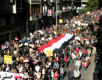 埃及抗议s 库存照片