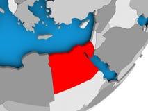 埃及映射 免版税库存照片