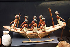 埃及模型小船 库存图片