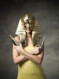 埃及法老王面具 免版税库存图片