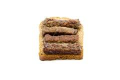 埃及牛肉Kofta用多士面包 免版税库存照片