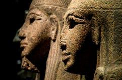 埃及狮身人面象雕象被伤的鼻子 免版税库存照片