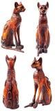 埃及猫雕象 免版税库存照片