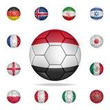 埃及的全国橄榄球球 详细的套全国足球 优质图形设计 其中一个汇集象为 库存例证