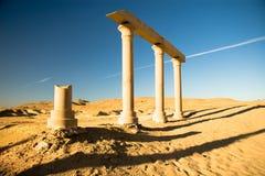 埃及的古老废墟 图库摄影