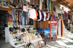 埃及的善社交的义卖市场街道 库存照片