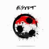 埃及的旗子作为一个抽象足球 免版税库存照片