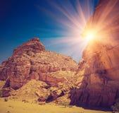 埃及的色的峡谷 库存照片
