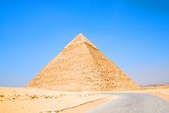 埃及的金字塔 吉萨棉金字塔的看法 埃及 开罗 库存照片