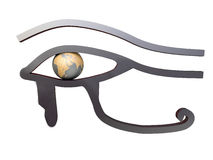 埃及眼睛镭符号 向量例证