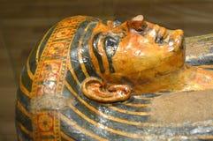 埃及石棺Kha妈咪 库存照片
