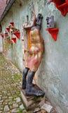 埃及神Khnum陶瓷雕塑  免版税库存照片