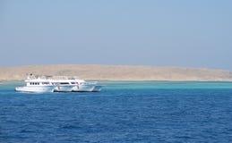 埃及红色风景海运 库存照片