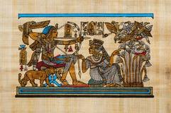 埃及纸莎草 库存照片