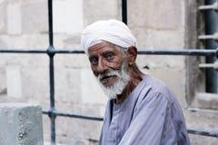 埃及老人 库存照片