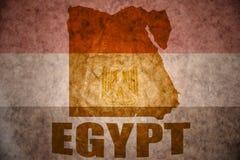 埃及葡萄酒地图 免版税图库摄影