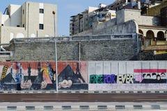 埃及街道画革命s 免版税库存照片