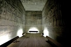 埃及象形文字海岛philae 免版税图库摄影