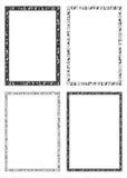 埃及象形文字的装饰框架 免版税库存图片