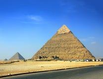 埃及金字塔在吉萨棉开罗 免版税图库摄影