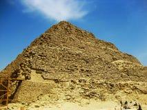 埃及金字塔塞加拉 免版税库存照片
