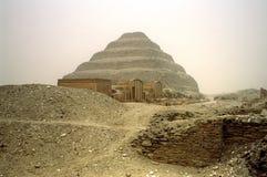 埃及金字塔塞加拉 库存照片