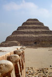 埃及金字塔塞加拉 免版税图库摄影