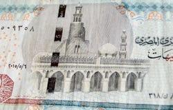 埃及钞票的Ibn Tulun清真寺 图库摄影
